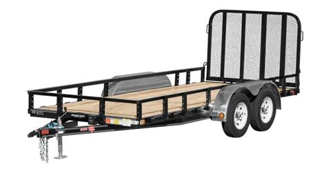 2020 PJ Trailers 72 in. Tandem Axle Channel Utility (UJ) 10 ft. in Kansas City, Kansas
