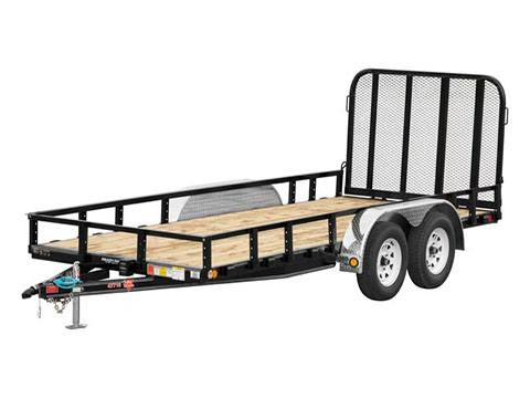 2019 PJ Trailers 77 in. Tandem Axle Channel Utility (UK) 14 ft. in Hillsboro, Wisconsin