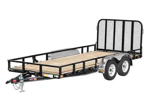 2019 PJ Trailers 83 in. Tandem Axle Channel Utility (UL) 16 ft. in Hillsboro, Wisconsin
