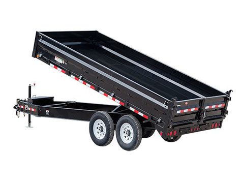 2019 PJ Trailers 10 in. I-Beam Deckover Dump (DT) 16 ft. in Hillsboro, Wisconsin