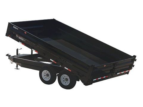 2019 PJ Trailers 96 in. Deckover Dump (D8) 16 ft. in Hillsboro, Wisconsin