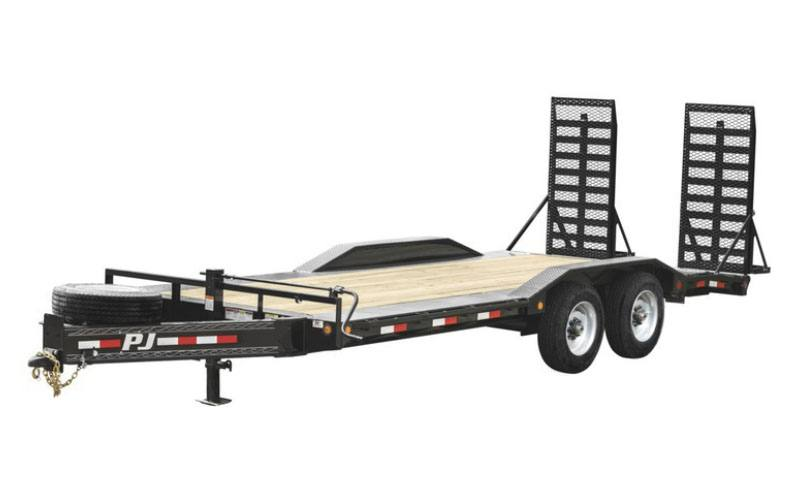 2021 PJ Trailers 10 in. Pro-Beam Super-Wide Equipment (H7) 22 ft. in Hillsboro, Wisconsin