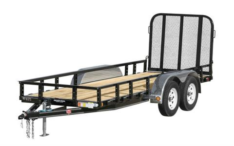 2021 PJ Trailers 60 in. Tandem Axle Channel Utility (UC) 10 ft. in Hillsboro, Wisconsin