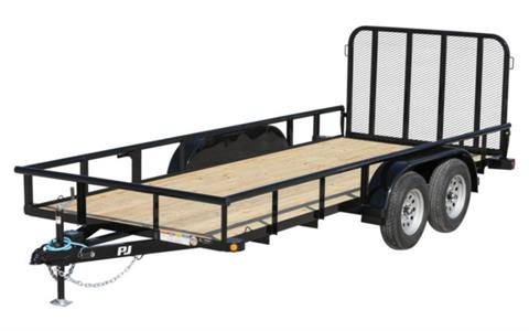 2021 PJ Trailers 77 in. Angle Tandem Axle Utility (EK) 16 ft. in Hillsboro, Wisconsin