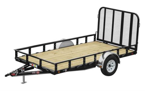 2021 PJ Trailers 77 in. Single Axle Channel Utility (U7) 8 ft. in Acampo, California