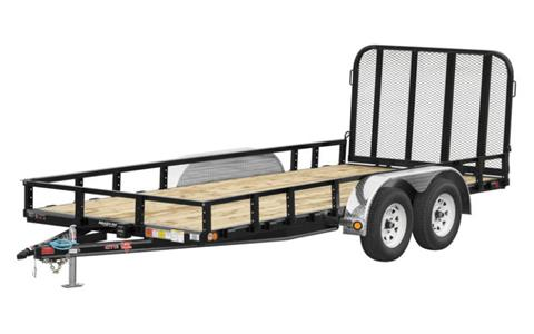 2021 PJ Trailers 77 in. Tandem Axle Channel Utility (UK) 10 ft. in Hillsboro, Wisconsin