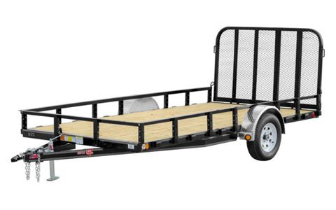 2021 PJ Trailers 83 in. Single Axle Channel Utility (U8) 8 ft. in Hillsboro, Wisconsin