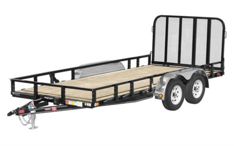 2021 PJ Trailers 83 in. Tandem Axle Channel Utility (UL) 14 ft. in Acampo, California