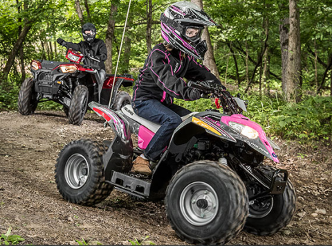 2017 Polaris Outlaw 110 in Calmar, Iowa