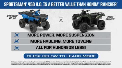 2017 Polaris Sportsman 450 H.O. Utility Edition in Corona, California
