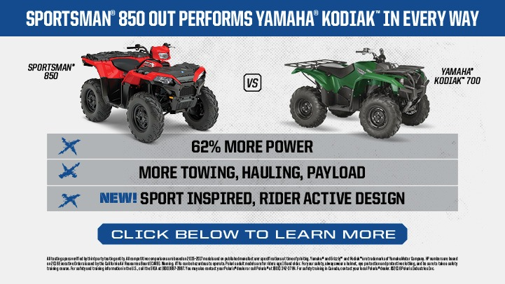 2017 Polaris Sportsman 850 in Hermitage, Pennsylvania