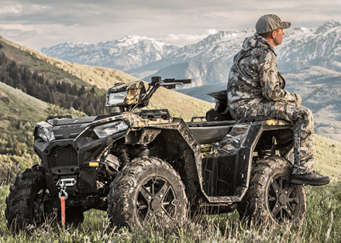 2017 Polaris Sportsman 850 SP Polaris Pursuit Camo in Cochranville, Pennsylvania