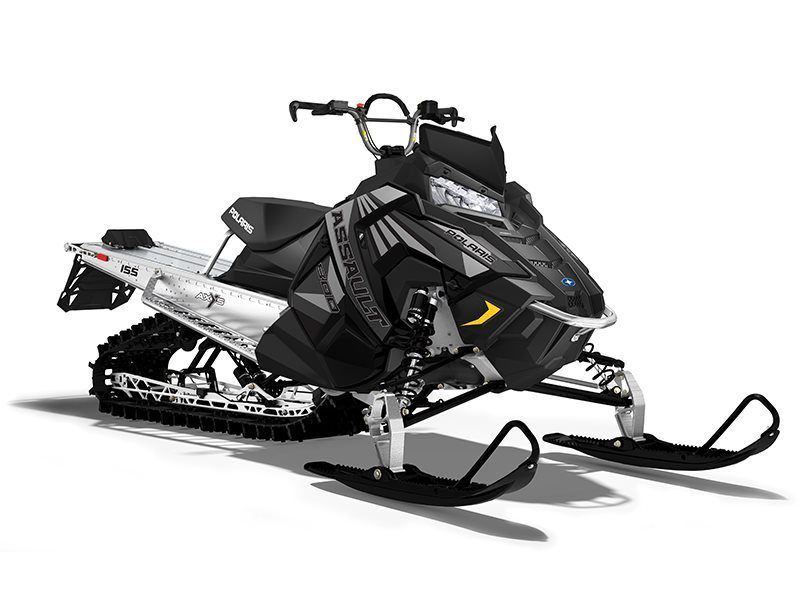 2017 Polaris 800 RMK Assault 155 Powder in Pittsfield, Massachusetts