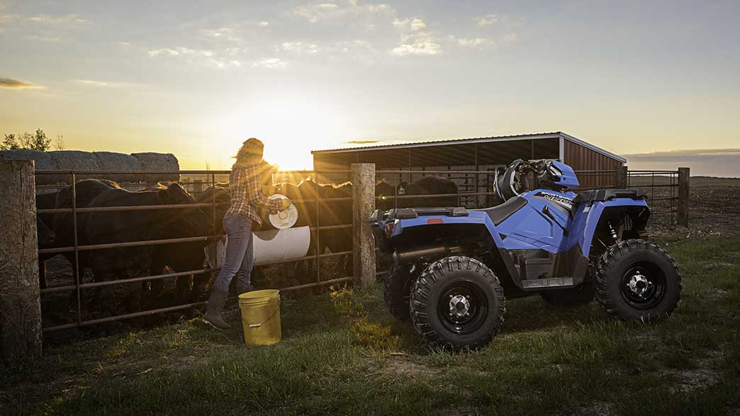 2018 Polaris Sportsman 450 H.O. EPS in Barre, Massachusetts