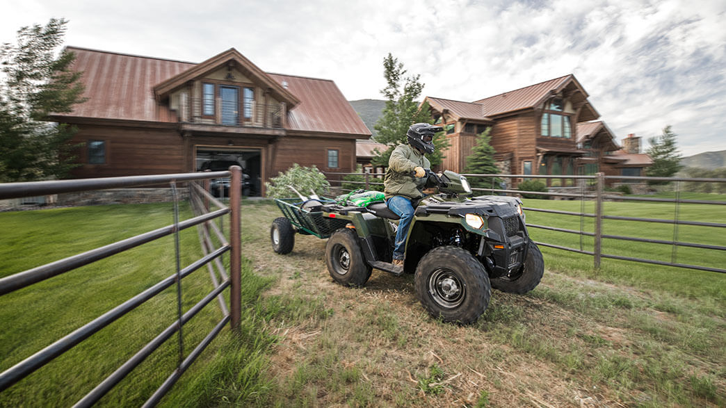 2018 Polaris Sportsman 570 EPS Camo in Elkhorn, Wisconsin
