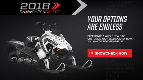 2018 Polaris 800 PRO-RMK 163 3 in. SnowCheck Select in Barre, Massachusetts