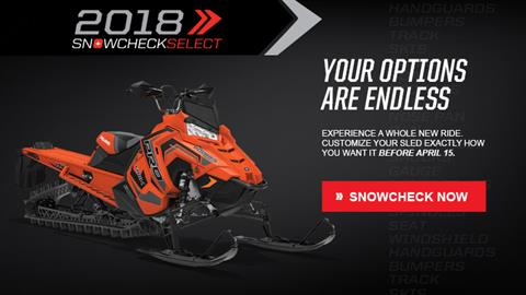 2018 Polaris 800 PRO-RMK 174 3 in. SnowCheck Select in Elkhorn, Wisconsin