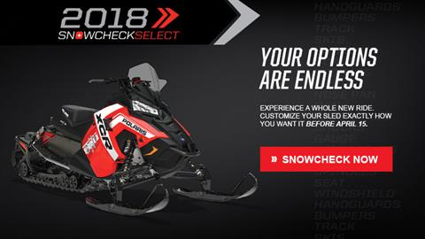 2018 Polaris 600 Switchback XCR SnowCheck Select in Fond Du Lac, Wisconsin
