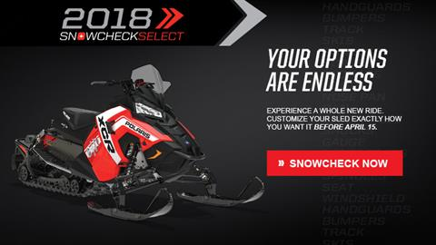 2018 Polaris 800 Switchback XCR SnowCheck Select in Wisconsin Rapids, Wisconsin