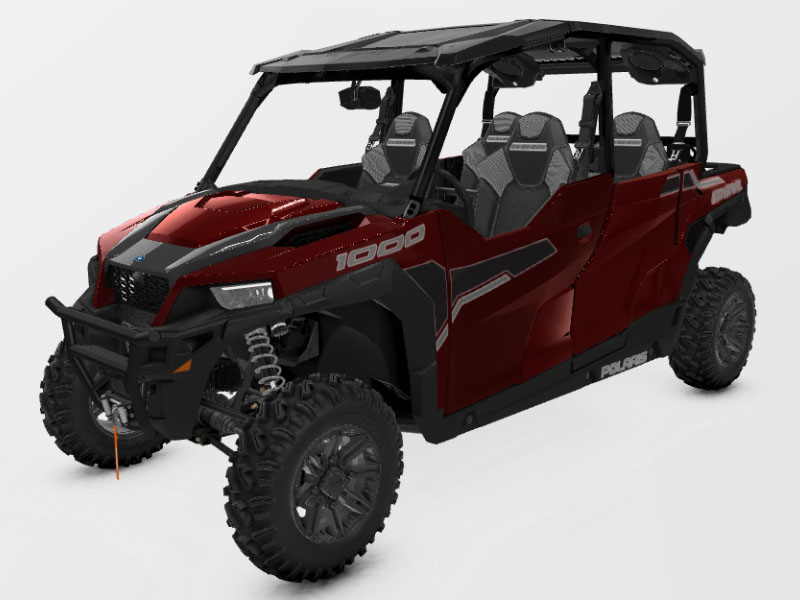 2021 Polaris General 4 1000 Deluxe Ride Command in Monroe, Michigan