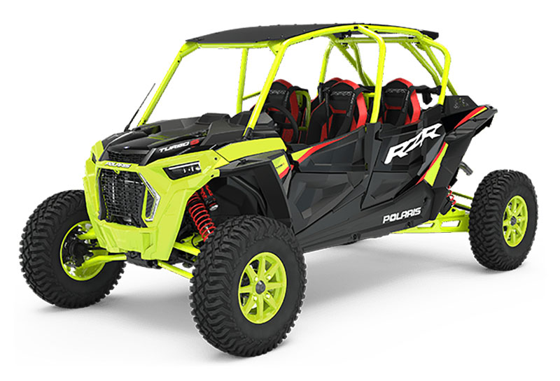 2021 Polaris RZR Turbo S 4 Lifted Lime LE in Lake Mills, Iowa - Photo 1