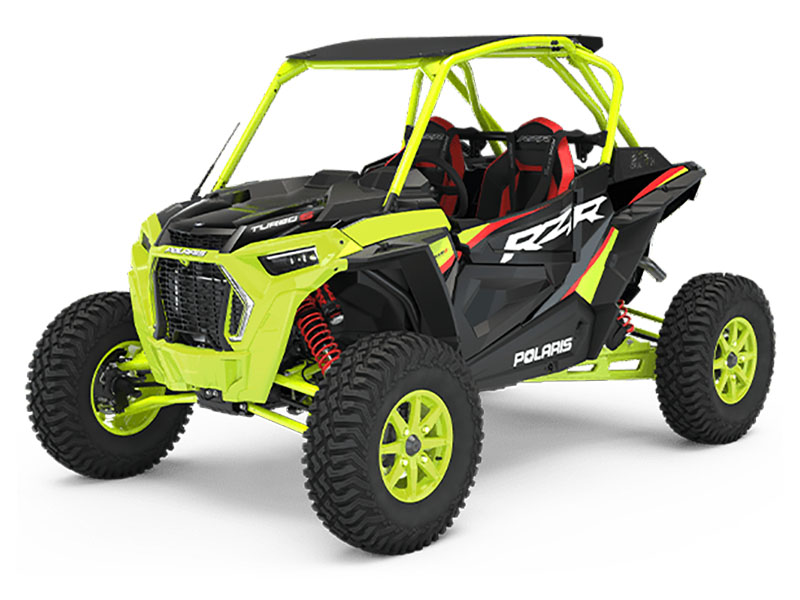 2021 Polaris RZR Turbo S Lifted Lime LE in Lake Mills, Iowa - Photo 1