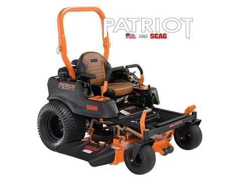 2019 SCAG Power Equipment Patriot 61 in. 23 hp Kawasaki Zero Turn  Mower in Francis Creek, Wisconsin