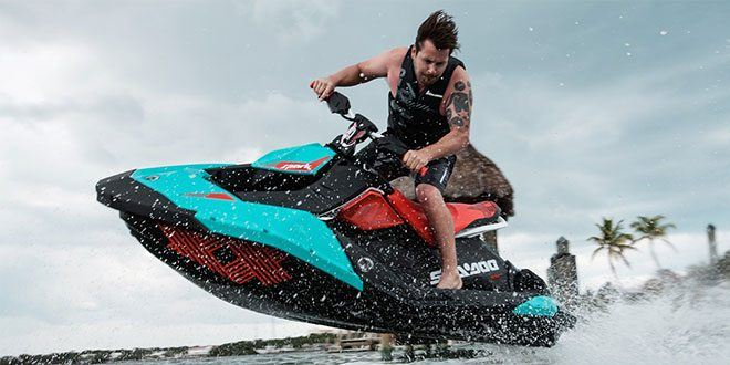 2018 Sea-Doo Spark 3up Trixx iBR in Presque Isle, Maine
