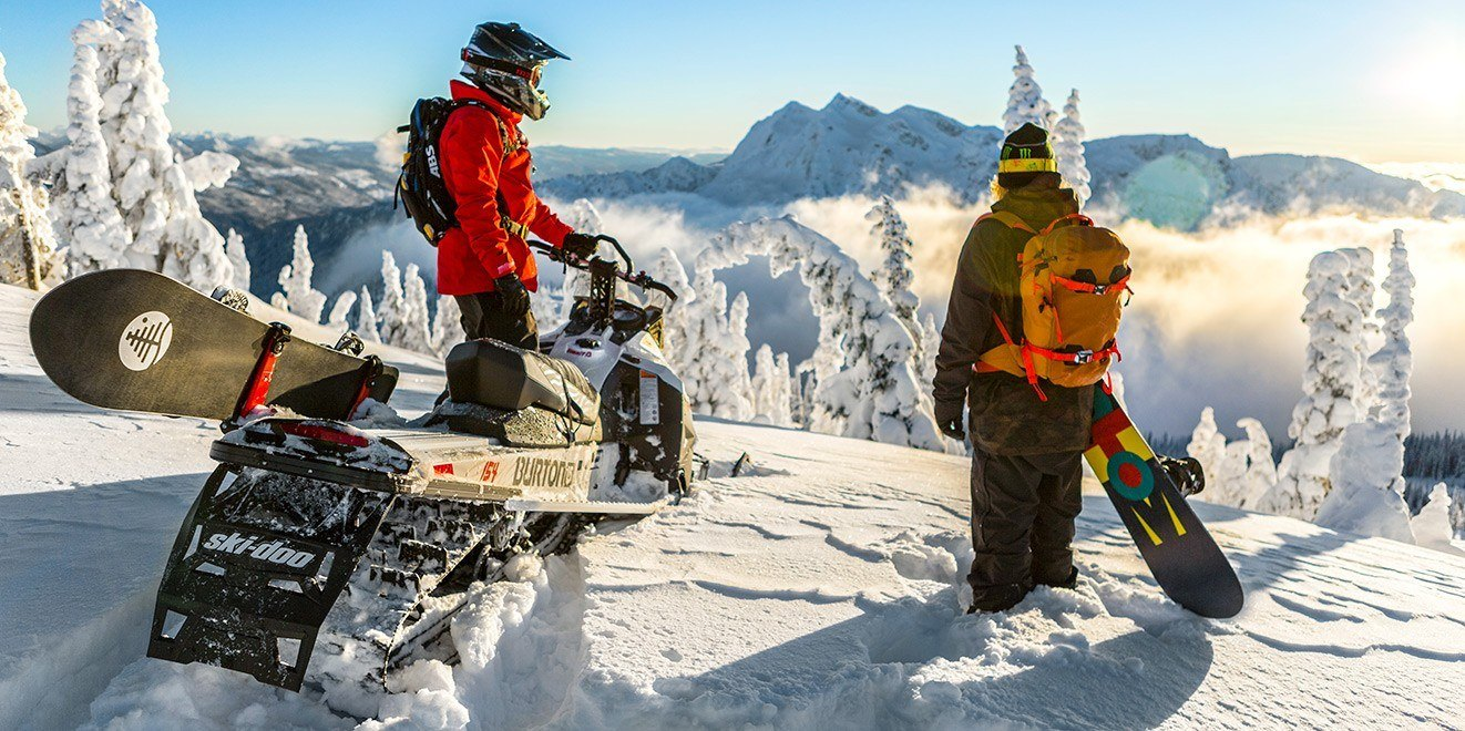 "2017 Ski-Doo Summit Burton 154 800R E-TEC, PowderMax 2.5"" in Butte, Montana"