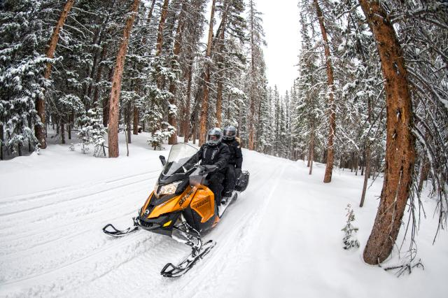 2018 Ski-Doo Grand Touring SE 1200 4-TEC ES Ripsaw 1.25 STIS in Baldwin, Michigan