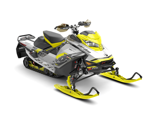 2018 Ski-Doo MXZ X-RS 850 E-TEC w/ Adj. Pkg. Ice Ripper XT 1.25 in Colebrook, New Hampshire