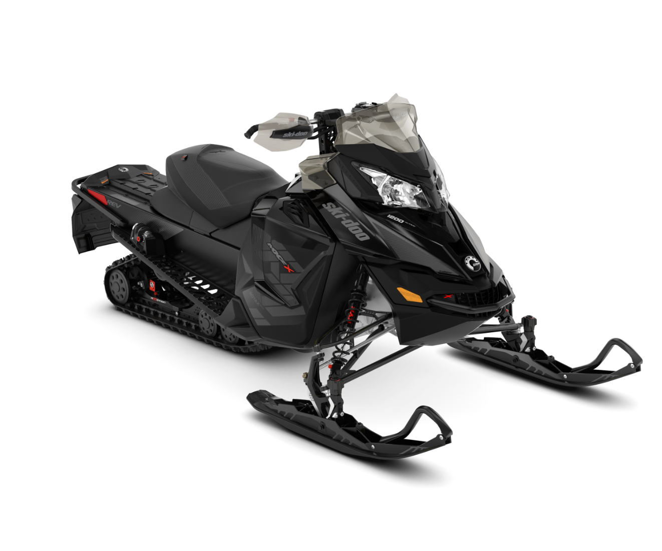2018 Ski-Doo MXZ X 1200 4-TEC w/ Adj. Pkg. Ice Ripper XT 1.25 in Colebrook, New Hampshire
