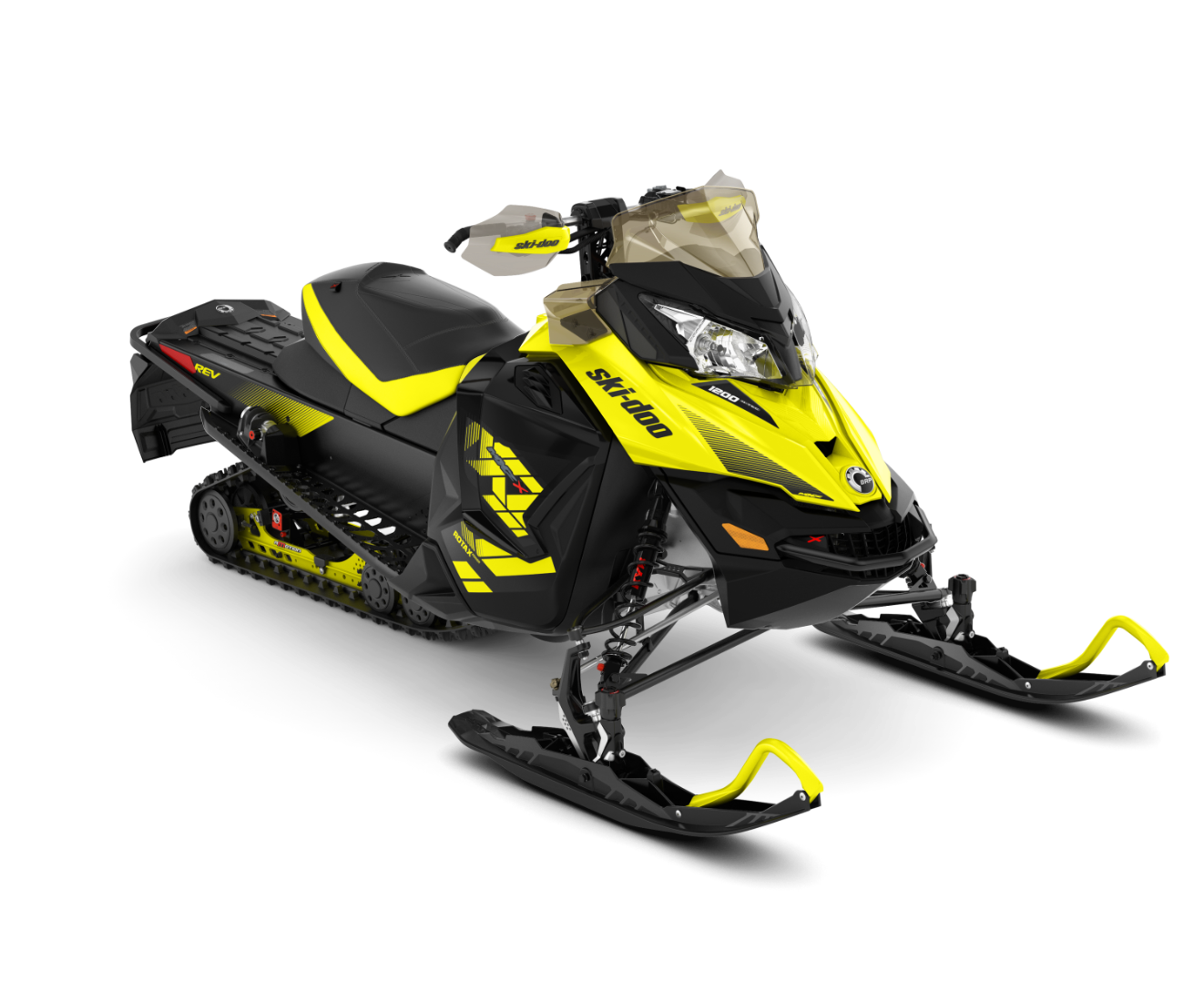 2018 Ski-Doo MXZ X 1200 4-TEC w/ Adj. Pkg. Ice Ripper XT 1.25 in Moses Lake, Washington