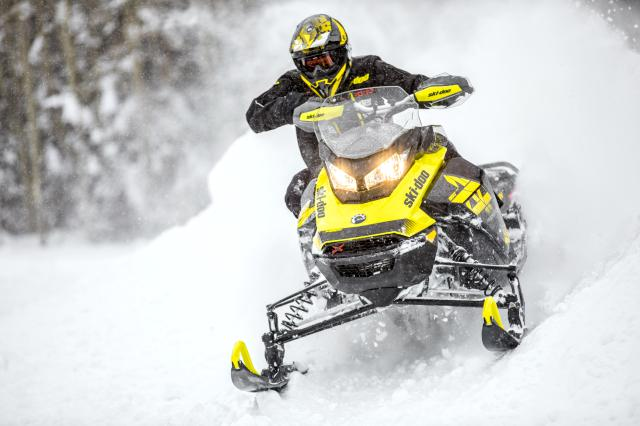 2018 Ski-Doo MXZ X 600 HO E-TEC Ice Cobra 1.6 in Barre, Massachusetts