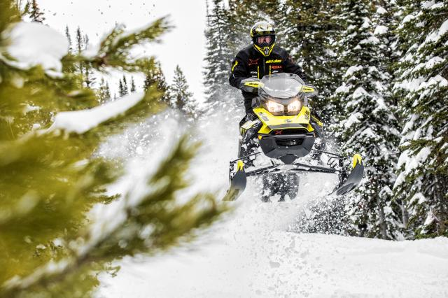 2018 Ski-Doo MXZ X 600 HO E-TEC Ice Ripper XT 1.25 in Baldwin, Michigan