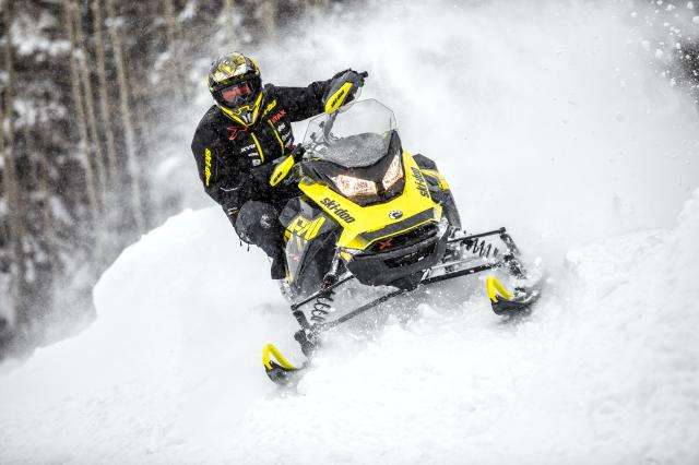 2018 Ski-Doo MXZ X 600 HO E-TEC Ripsaw 1.25 in Colebrook, New Hampshire