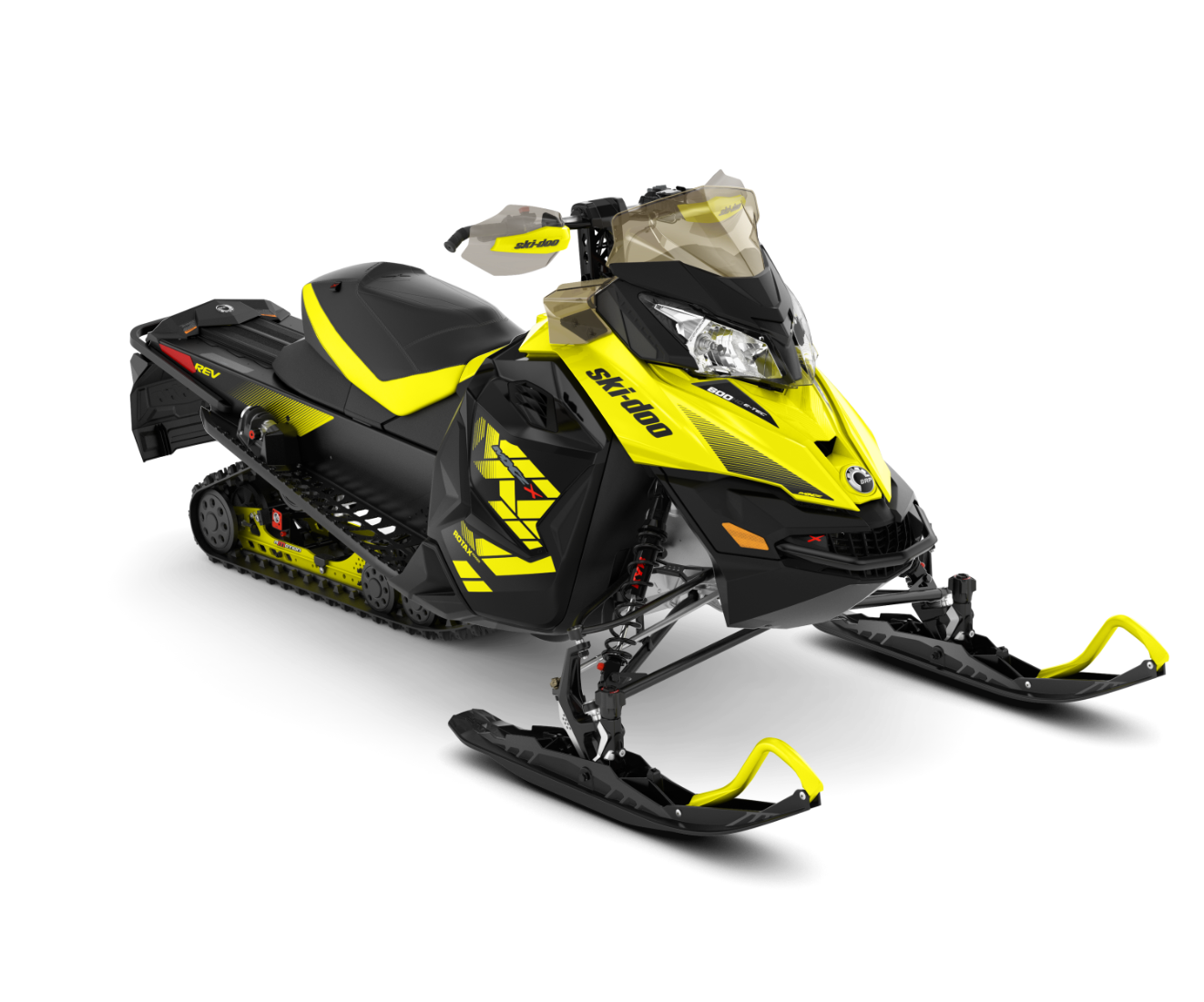 2018 Ski-Doo MXZ X 600 HO E-TEC w/ Adj. Pkg. Ice Ripper XT 1.25 in Baldwin, Michigan