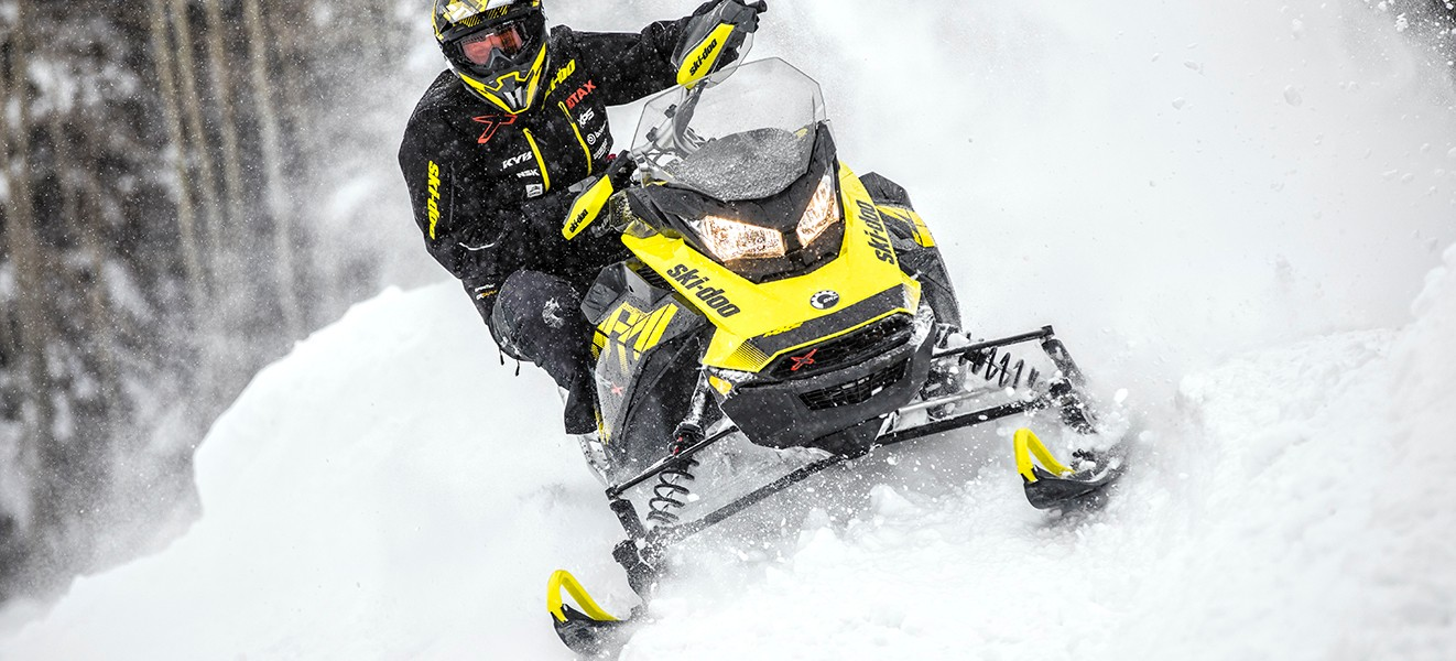 2018 Ski-Doo MXZ X 850 E-TEC w/ Adj. Pkg. Ice Cobra 1.6 in Honesdale, Pennsylvania