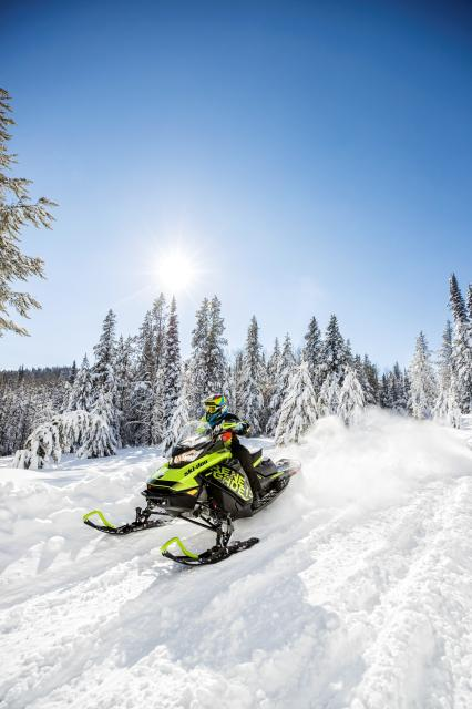 2018 Ski-Doo Renegade X 600 HO E-TEC ES w/ Adj. Pkg Ice Cobra 1.6 in Baldwin, Michigan