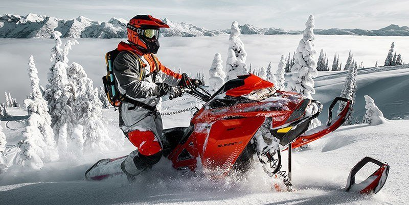 2019 Ski-Doo Summit X 165 850 E-TEC PowderMax Light 2.5 H_ALT in Island Park, Idaho