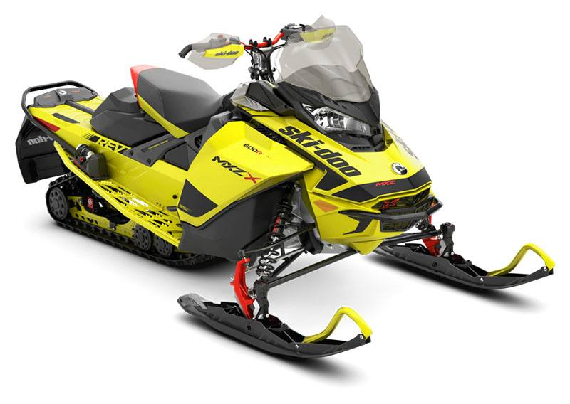 2020 Ski-Doo MXZ X 600R E-TEC ES Adj. Pkg. Ice Ripper XT 1.25 in Augusta, Maine - Photo 1