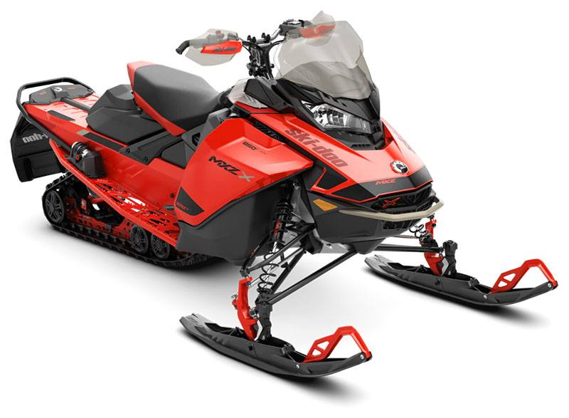 2021 Ski-Doo MXZ X 850 E-TEC ES w/ Adj. Pkg, Ice Ripper XT 1.25 w/ Premium Color Display in Sacramento, California