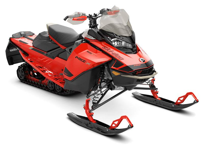 2021 Ski-Doo MXZ X 600R E-TEC ES Ice Ripper XT 1.25 in Barre, Massachusetts