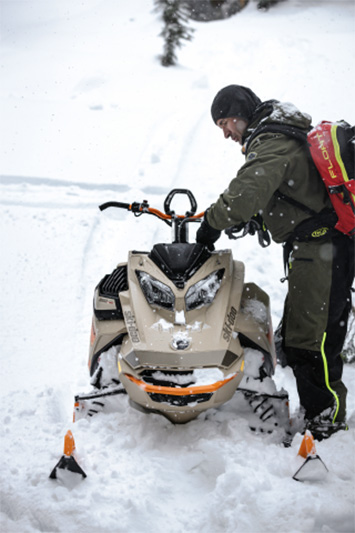 2022 Ski-Doo Freeride 165 850 E-TEC ES PowderMax Light 2.5 w/ FlexEdge LAC in Wasilla, Alaska - Photo 2
