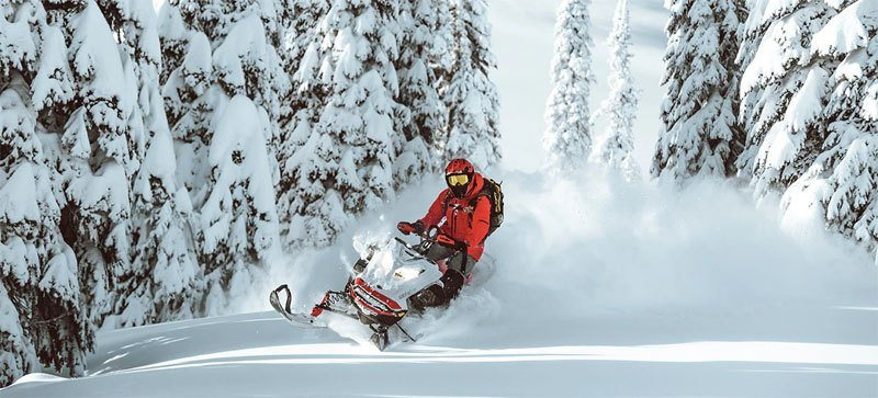 2021 Ski-Doo Summit X Expert 165 850 E-TEC SHOT PowderMax Light FlexEdge 3.0 LAC in Honeyville, Utah