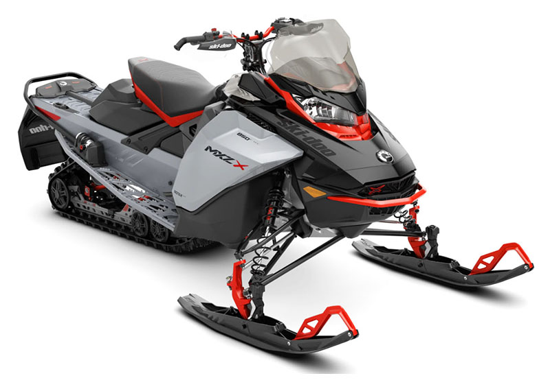 2022 Ski-Doo MXZ X 850 E-TEC ES w/ Adj. Pkg, Ice Ripper XT 1.25 in Derby, Vermont - Photo 1