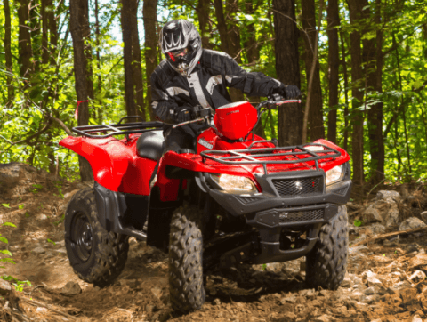 2017 Suzuki KingQuad 500AXi in Phillipston, Massachusetts