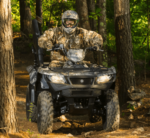 2017 Suzuki KingQuad 500AXi Power Steering Camo in West Bridgewater, Massachusetts