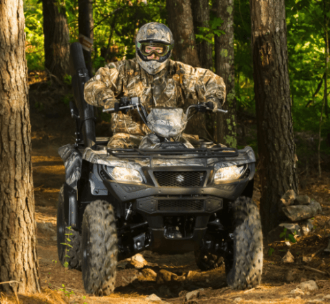 2017 Suzuki KingQuad 500AXi Power Steering Camo in Cedar Creek, Texas