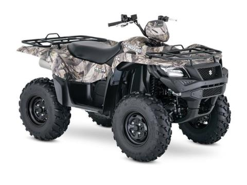2017 Suzuki KingQuad 750AXi Power Steering Camo in Francis Creek, Wisconsin